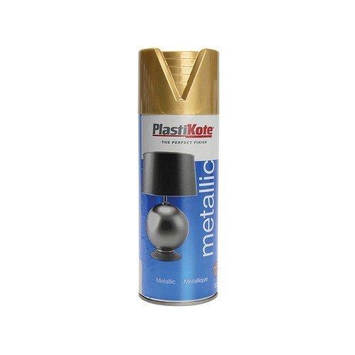 Plasti-Kote PKT620 Metallic Spray Gold 400ml