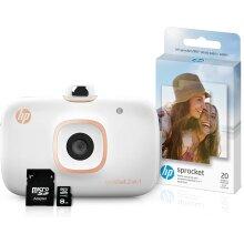 HP Sprocket 2-in-1 Portable Photo Printer 8GB Photo Paper White