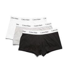 CALVIN KLEIN Men's Low Rise Trunks Stretch Cotton 3 Pack CK Underwear