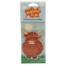Highland Coo Cow Autumn Leaves Scented Air freshener
