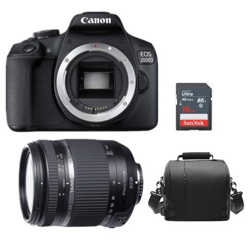 CANON EOS 2000D Black +TAMRON 18-270mm Di II VC PZD+Bag+16gb SD card