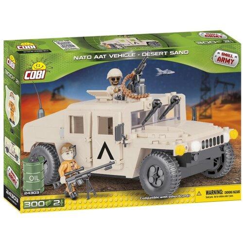 COBI 24303 Nato Armored All-Terrain Vehicle(Desert Sand)car model, 300 building bricks