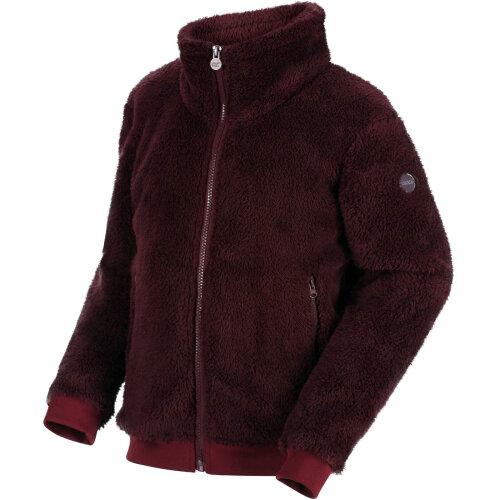 (3-4Yrs, Purple) Regatta Kids Calpurnia Full Zip Warm Fluffy Fleece Jumper Sweater - Fig