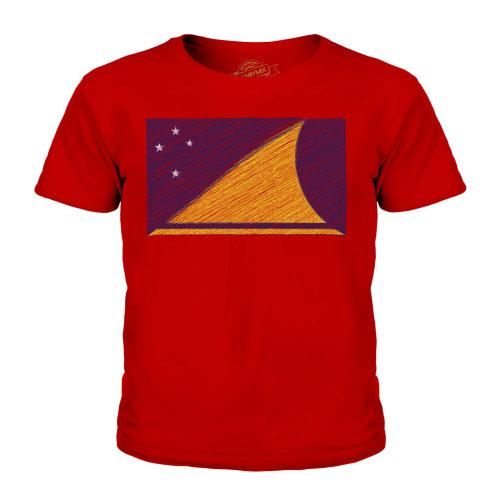 Candymix - Tokelau Scribble Flag - Unisex Kid's T-Shirt