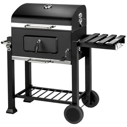 tectake BBQ Florian - charcoal grill, barbecue, charcoal bbq - black