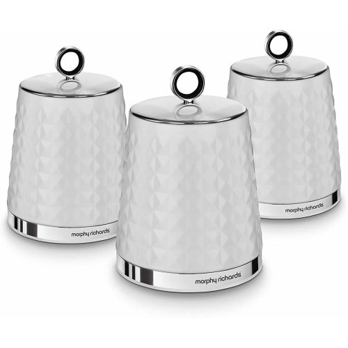 Morphy Richards 978054 Dimensions 3 Round Kitchen Storage Canisters