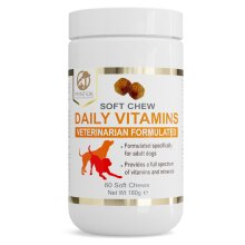 Petastical Daily Vitamins for Dogs - Multivitamins Supplement Veterinarian Formulated - All Natural Wheat Free Tablets - 60 Soft Chews