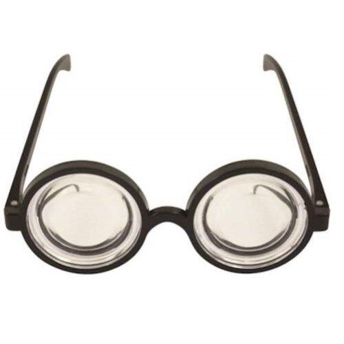 Nerd Glasses Round Thick Geek Fancy Dress Costume Retro Minion Wizard