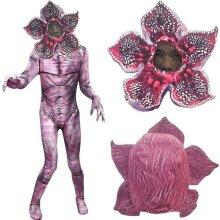 Kids Stranger Things Demogorgon Cosplay Costume The Monster Jumpsuit Mask Set
