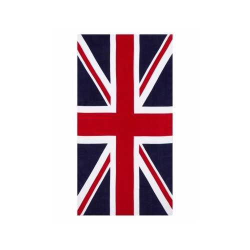100% Cotton Union Jack British Flag Printed Beach Towel