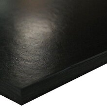 """SBR (Styrene Butadiene Rubber) Sheet, 70 Shore A, Black, Smooth Finish, No Backing, 0.062"""" Thickness, 6"""" Width, 6"""" Length"""