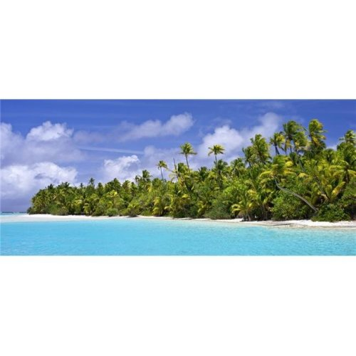 Remote Island Near Barefoot Island - Aitutaki Cook Islands Poster Print - 44 x 20 in. - Large