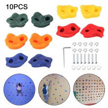 10PC Textured Resin Bolt On Climbing Frame Rock Wall Grab Holds Grip
