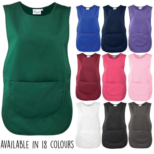 Unisex Pocket Tabard Catering Cleaning Cooking Kitchen Workwear Uniform Tabbard
