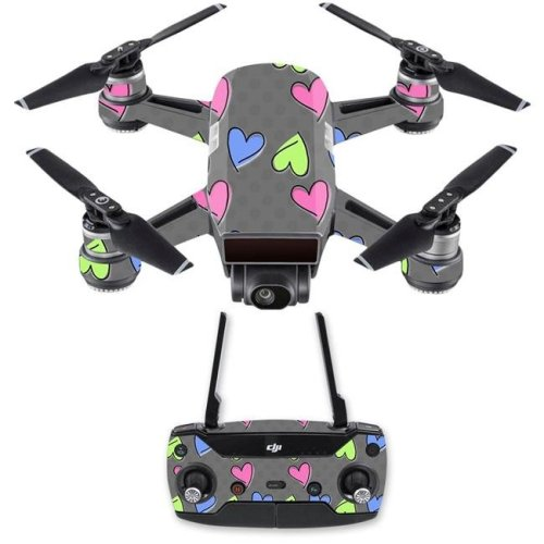 MightySkins DJSPCMB-Girly Skin Decal Wrap for DJI Spark Mini Drone Combo Sticker - Girly