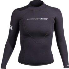 NeoSport Wetsuits Women's XSPAN Long Sleeve Shirt Black 10 - Diving Snorkeling & Wakeboarding