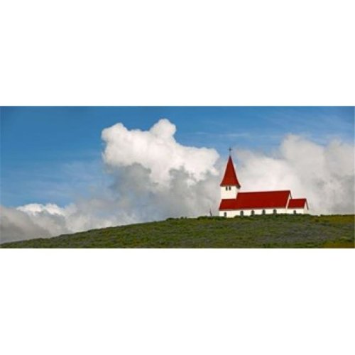 Church on hill  Vik  Iceland Poster Print by  - 36 x 12