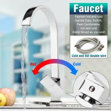 Waterfall Modern Mono Kitchen Mixer Tap Spray Chrome Hot & Cold Sink