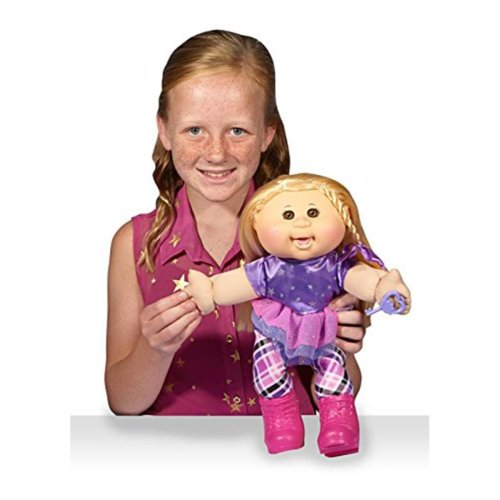 Cabbage Patch Kids 14 Kids Blonde Hair Brown Eye Girl Doll In Rocker Fashion