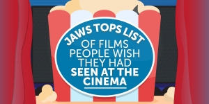 Jaws tops list of films people wish they had seen at the cinema