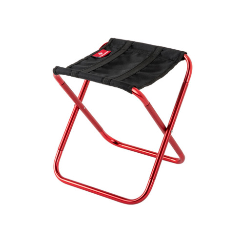 Mini Portable Outdoor Folding Chair Train Mazar Stool Rest Chair Camping Fishing Stool-Red