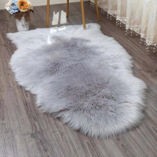 Shaggy Fluff Rug Bedroom Carpet Floor Mat Anti-Skid Living Room Rugs