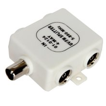 RF Splitter Freeview TV 4 Way UV FM VHF Aerial 1 Input to 4 Output TVs