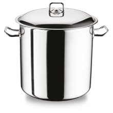 Geezy MasterClass Stainless Steel Induction Stock Pot With Lid