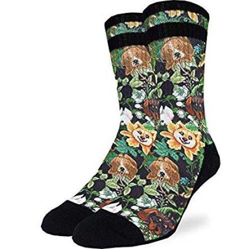 Socks - Good Luck Sock - Men's Active Fit - Botanical Dogs (8-13) 4181