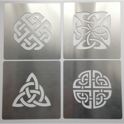 No1 Stainless Steel Celtic Knots Stainless Steel Crafting Stencil 4cm