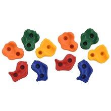 vidaXL 10pk Multicolour Kids' Rock Climbing Stones