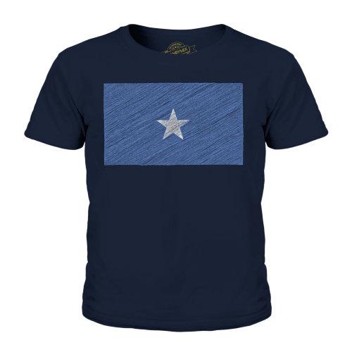 Candymix - Somalia Scribble Flag - Unisex Kid's T-Shirt