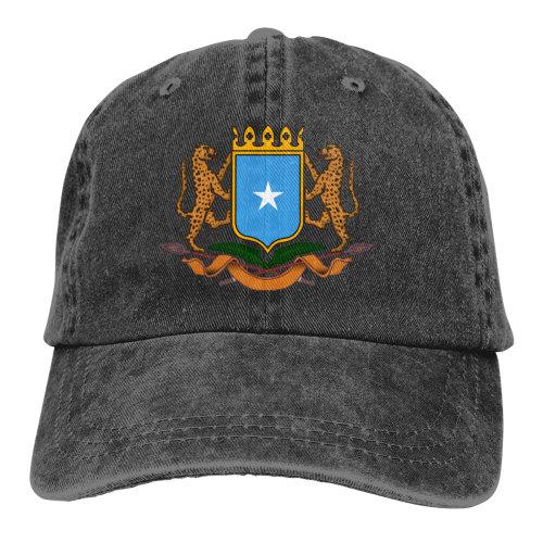 Coat Of Arms Somalia Denim Baseball Caps