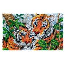 Tigers Rug Latch Hooking Kit (85x58cm)