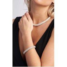 Silver Crystal Detail Bracelet