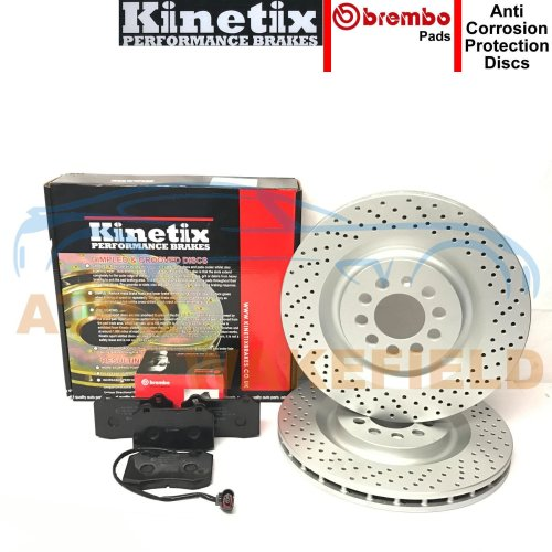 FOR SEAT LEON 1.8 T TURBO CUPRA R FRONT DRILLED BRAKE DISCS BREMBO PADS 323mm
