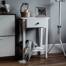 Windsor 1 Drawer Console Table With Shelf White
