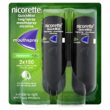 Nicorette QuickMist Mouth Spray Duo Pack Freshmint 1mg