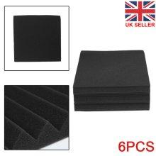 6PCS Acoustic Panels Tiles Studio Sound Proofing Insulation Closed Cell Foam UK