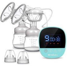 Electric Breast Pump Dual Suction Rechargeable Touch Screen LED