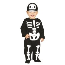 Toddlers Cute Skeleton Halloween Fancy Dress Costume 6-12 months