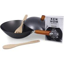 Ken Hom Classic 31cm Non Stick Carbon Steel 5 Piece Wok Set