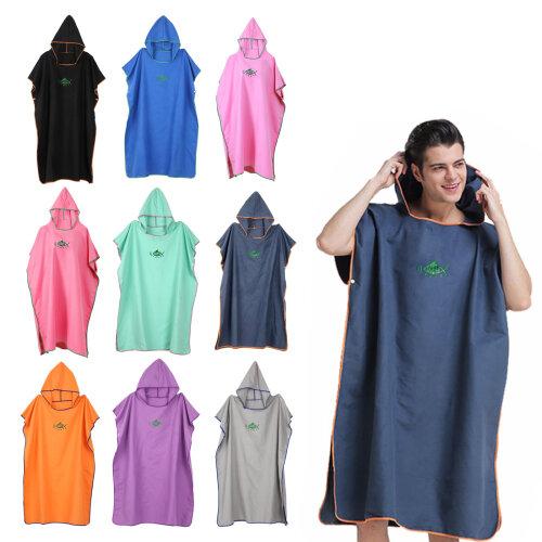 """Colourful Beach Towel Poncho Adult Bath Hooded Quick Dry Bathrobe Swimming Towel  """