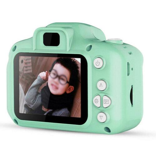 (Green) 2.0 inch Mini Digital Children Camera HD 1080P Camera Toys Gifts For Child Kids