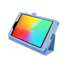 """Magnetic PU Leather Case Cover for LG G Pad 8.0 V480 8""""[Light Blue]"""