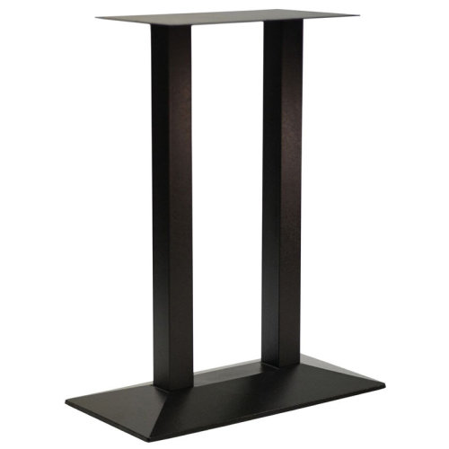 Quadric Cast Iron Twin Tall Bar Commercial Table Base