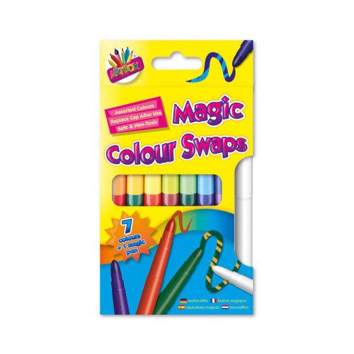 Artbox Magic Colour Swap Pens Felt Tip Colour Change Fibre Pens Markers 8 Pack