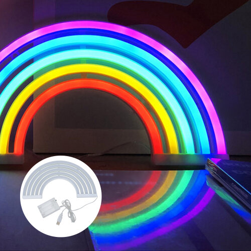 Rainbow Neon Sign Lights Wall Home Decoration Light Lamp for Kids Room
