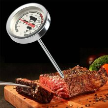 Stainless Steel Meat Poultry Food Thermometer BBQ Oven Temperature Cooking Probe