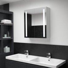 vidaXL LED Bathroom Mirror 62x14x60cm Wall Light Vanity Mirror Wall Cabinet